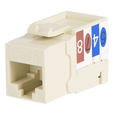 Wirepath™ Cat 6 RJ45 UTP Keystone Insert - 90 Degree (Ivory)