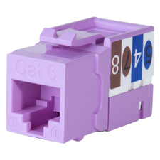 Wirepath™ Cat 6 RJ45 UTP Keystone Insert - 90 Degree (Purple)