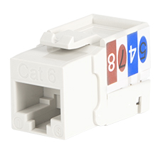 Wirepath™ Cat 6 RJ45 UTP Keystone Insert - 90 Degree (White)