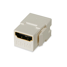 Wirepath™ HDMI Keystone Jack Pass-Through - Light Almond