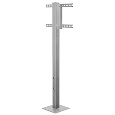 SunBrite® Outdoor Deck Planter Pole (Silver)