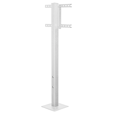 SunBrite® Outdoor Deck Planter Pole (White)
