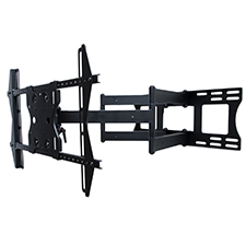 SunBriteTV® Dual Arm Articulating Mount for 37-80 in. Large Displays (Black)