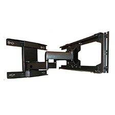 SunBrite TV® Dual Arm Articulating Mount for 42'-65' Outdoor TVs (Black)