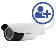 Visualint™ 4MP IP Bullet Outdoor Camera with Motorized Lens + Virtual Technician