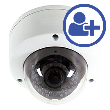 Visualint™ 2MP IP Dome Outdoor Camera with Starlight and Motorized Lens + Virtual Technician