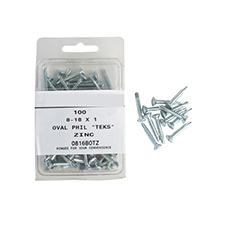 Teks Oval Philip Screws - 8-18 x 1' (Pack of 100)