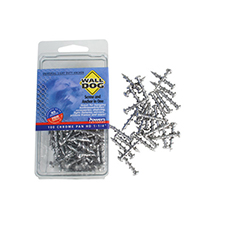Wall Dog Screw and Anchor Power Fasteners - Pack of 100