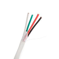 Wirepath™ 12-Gauge 4-Conductor Direct Burial Speaker Wire - 500 ft. Spool in Box (White)