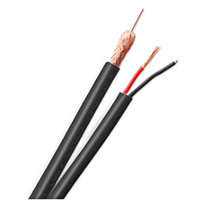 Wirepath™ RG59/U Coaxial Cable + 2-Conductor Wire - 1000 ft. Drum