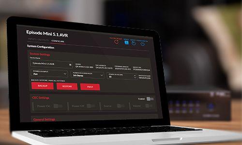 Laptop showing web UI on screen
