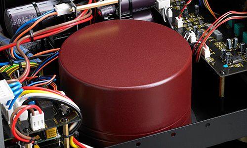View of toroid inside amplifier