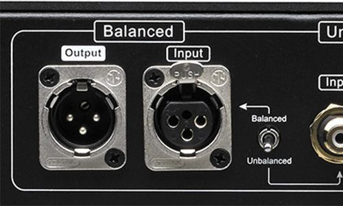 Zoomed-in view of Balanced Input and Loop Output on amp