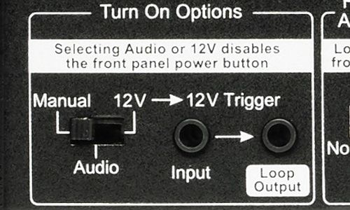 Turn on options switch on back of amp