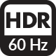 60Hz HDR icon