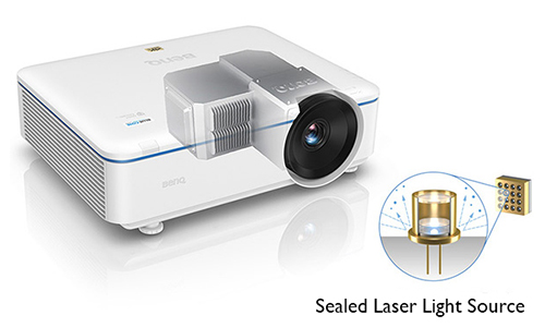 Rendering showing the sealed laser light sourse