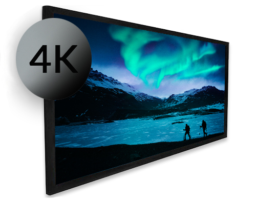 Dragonfly Ultra Black Fixed Alr Projection Screen