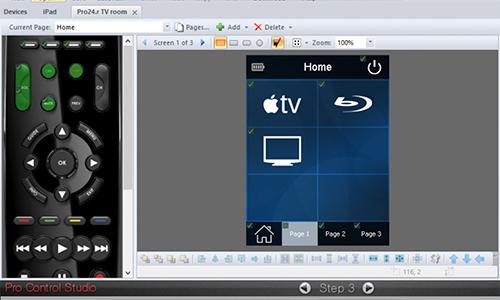 Screenshot of Pro Control Studio software