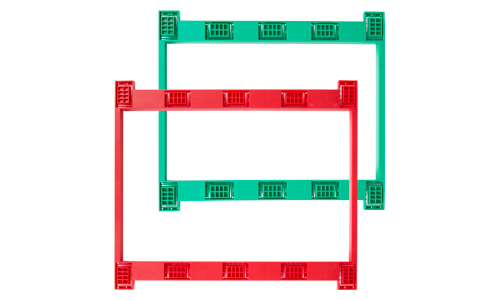 Red and green square brackets
