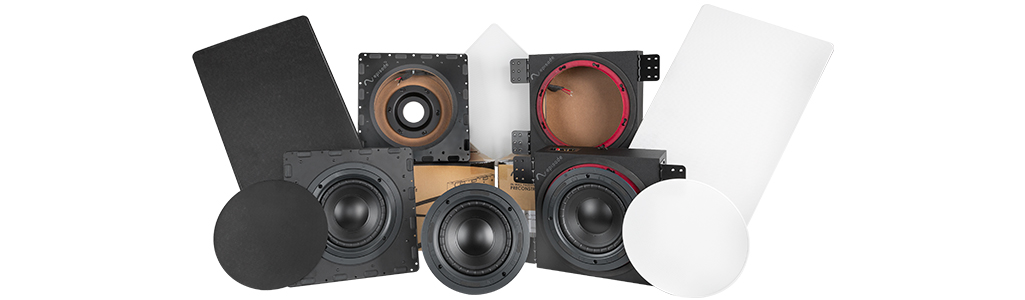 Subwoofer enclosure family shot