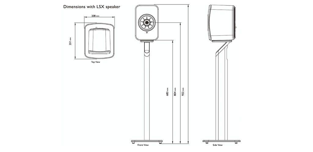 Diagram of KEF S1 Floor Stand