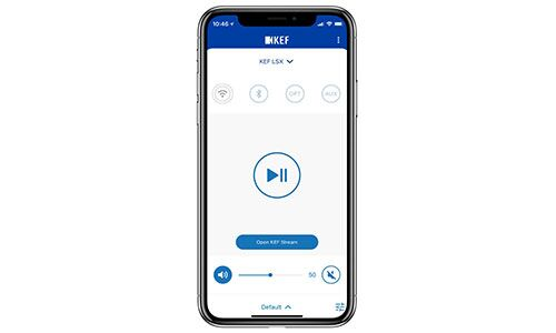 Smartphone displaying KEF Control App
