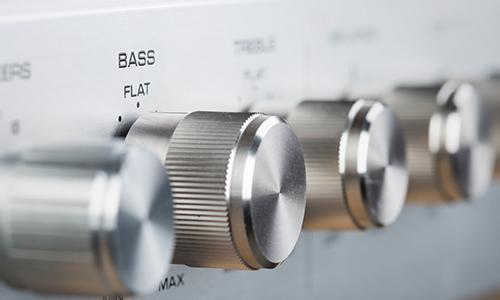 Image of bass dials that help make richer sounds
