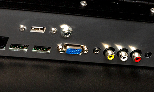 Ports on the rear of TV