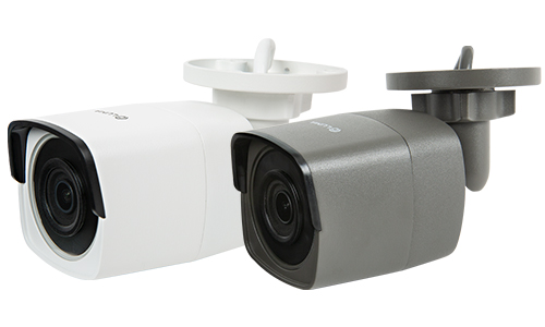 Close-up of sideview of Luma bullet camera lens